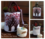 trees tote collage